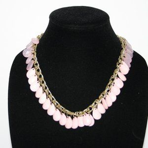 Beautiful gold and pink statement necklace